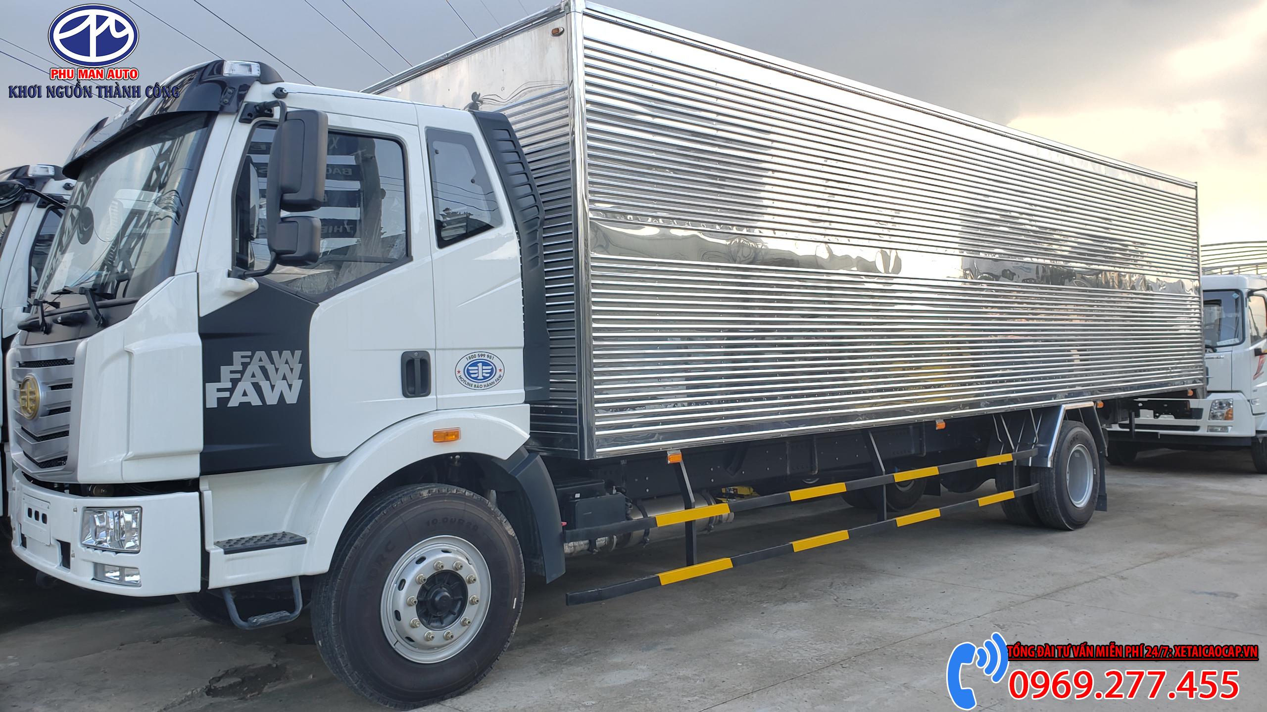 Faw thùng dài 10 mét - Phiên Bản Thùng Kín