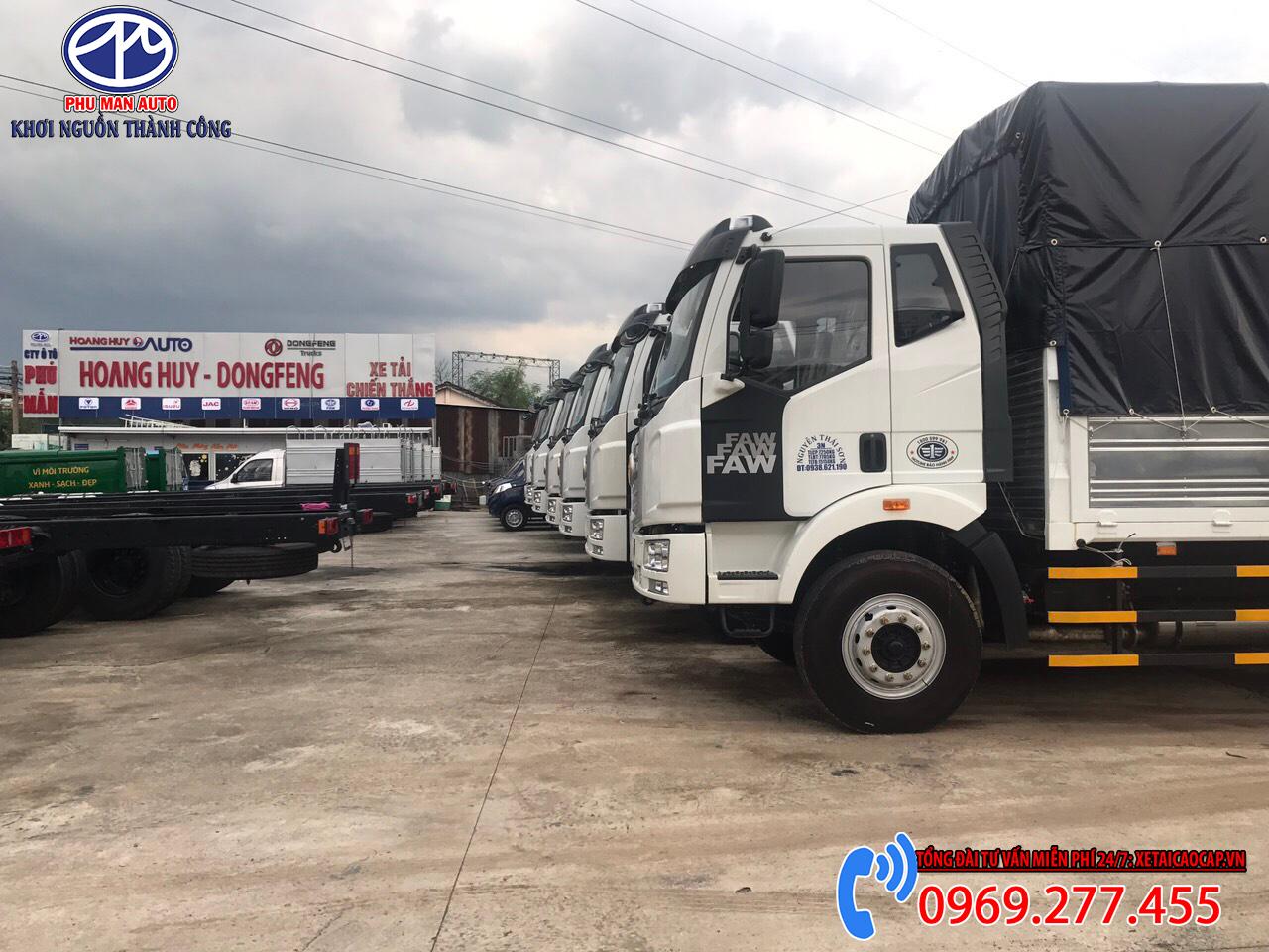 Xe tải faw 7.25 tấn thùng 10 mét