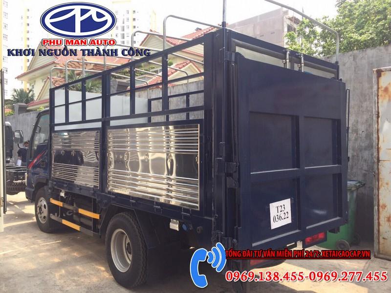 Xe tải Jac 1t9 Đầu Vuông Thùng Bạt Bửng Nâng