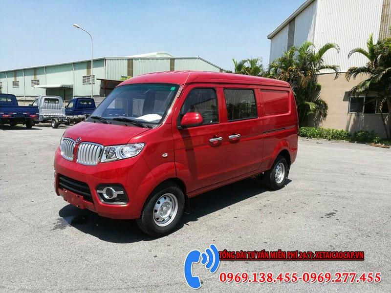 bán tải dongben 2 chỗ 930kg màu đỏ