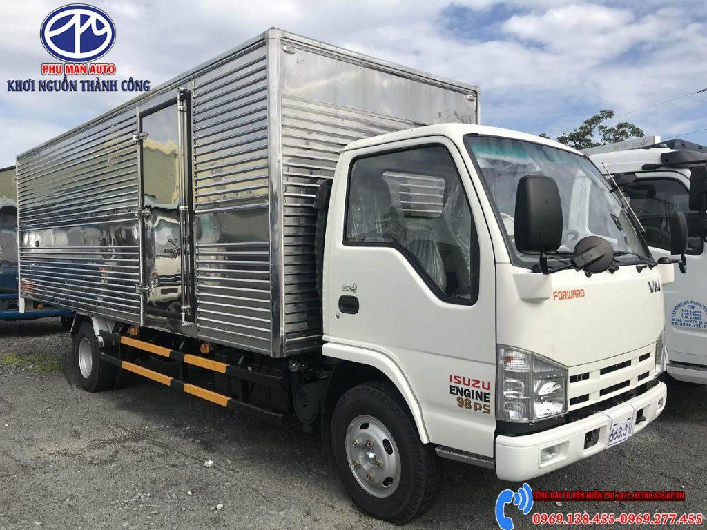 giá xe tải isuzu 1.9 tấn thùng dài 6.2 mét