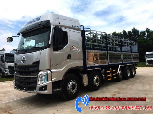 xe tải chenglong 9 tấn thùng dài